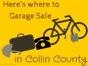 garage sale in plano