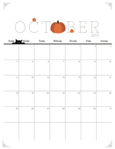 photograph about October Calendar Printable titled Cost-free Oct Calendar Printable, straightforward toward print