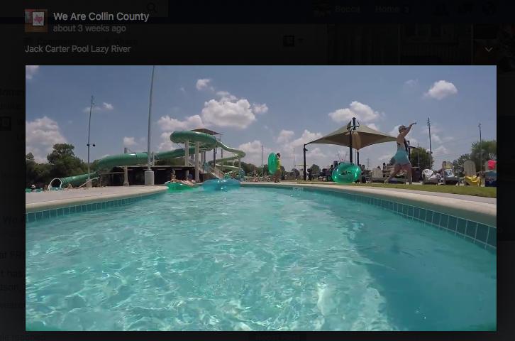 JAck Carter pool lazy river