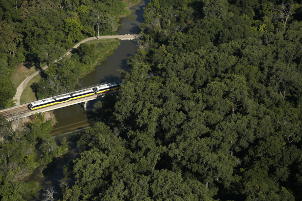 Photos of the DART rail lines running in the greater Dallas area. (G.J. McCarthy/The Dallas Morning News)