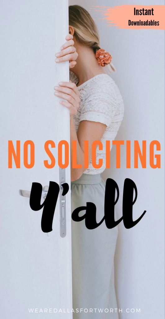 No Soliciting Instant Download (FREE)