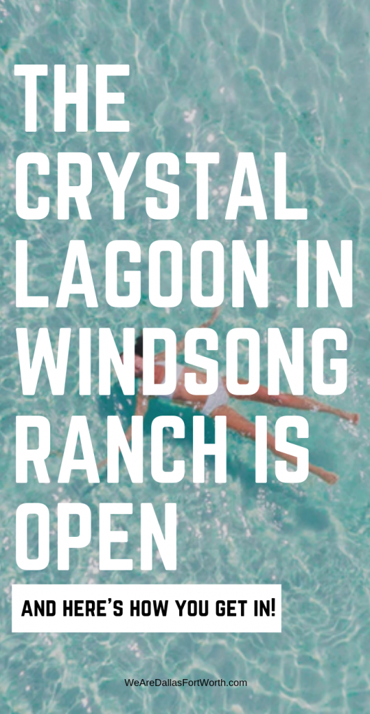 The Crystal Lagoon in Windsong Ranch is Open. Everyone wants to take a swim across this GIANT pool - here's how you get in!