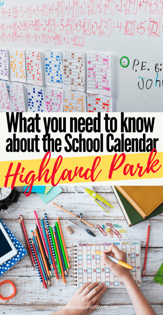Get Access to the Highland Park TX School Calendar right now!