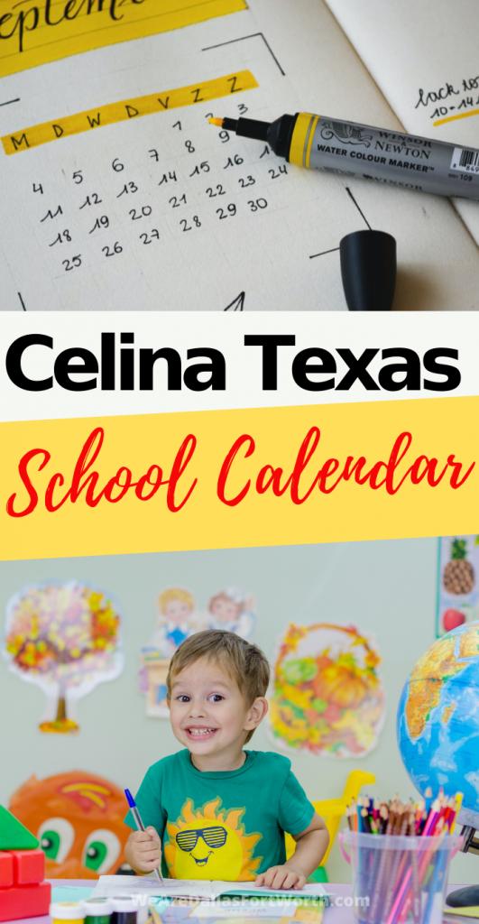 Celina Texas school calendar